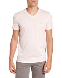 Lacoste - Pink Pima Cotton T-shirt (nordstrom Exclusive) for Men - Lyst