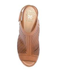Vince Camuto - Brown Lavette Leather Block Heel Sandal - Lyst