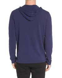 The Rail - Blue Henley Hoodie for Men - Lyst