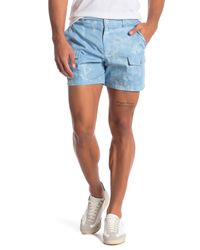 Parke & Ronen - Blue Tie-dye Cargo Shorts for Men - Lyst