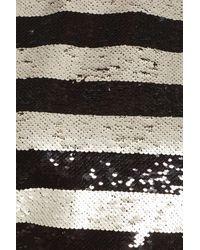 Eliza J - Multicolor Sequin Stripe Top - Lyst