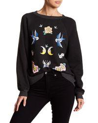 Wildfox Black Fleece Lined Sweater