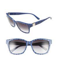 MCM - Blue Visetos 59mm Retro Sunglasses - Lyst