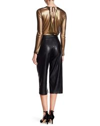 BCBGeneration - Black Cropped Wide Leg Pants - Lyst