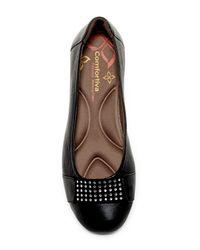 Comfortiva - Black Sallis Jewel Embellished Flat - Wide Width Available - Lyst