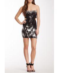 Sky - Black Kismet Strapless Cutout Sequin Dress - Lyst