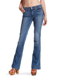 7 For All Mankind - Blue Flared Jean - Lyst