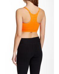 Yummie By Heather Thomson - Orange Wow V-neck Sports Bra - Lyst