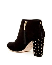 Kate Spade | Black Cirra Studded Ankle Boot | Lyst