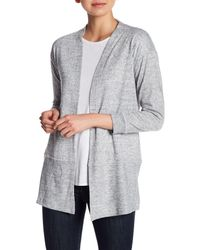 Hiatus - White Cozy Long Sleeve Cardigan - Lyst