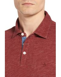 Original Penguin - Red Slub Jersey Polo for Men - Lyst