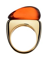Baccarat - Metallic Galea Gold Vermeil Crystal Ring - Size 5.5 - Lyst