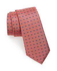 Calibrate - Orange Descrete Geometric Silk Tie for Men - Lyst