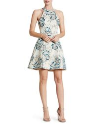 Dress the Population - Blue Hannah Fit & Flare Dress - Lyst