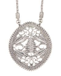Lucky Brand - Metallic Openwork Pendant Necklace - Lyst
