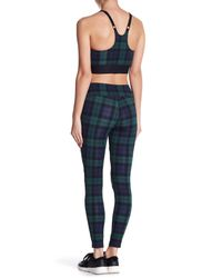 ROWLEY FITNESS - Blue Plaid Mesh Pull-on Leggings - Lyst