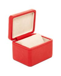 Fossil - Red Leather Watchbox - Lyst