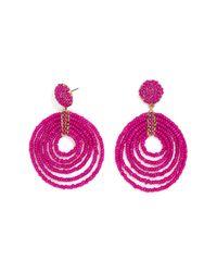 BaubleBar - Pink Clover Drop Beaded Earrings - Lyst