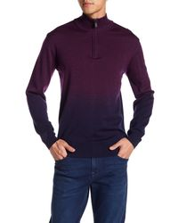 Bugatchi - Purple Dip Dye Wool Sweater for Men - Lyst