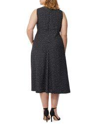 REBEL WILSON X ANGELS - Black Print Hi-lo Dress (plus Size) - Lyst