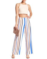 Romeo and Juliet Couture - Blue Woven Multi Color Stripe Pant - Lyst