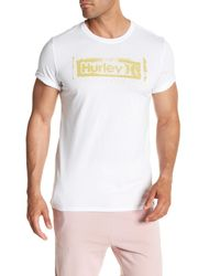 Hurley - White Roller Crew Neck Graphic Tee for Men - Lyst