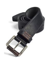 Johnston & Murphy - Black Leather Belt for Men - Lyst
