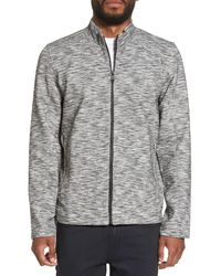 Calibrate - Gray Knit Bomber Jacket for Men - Lyst