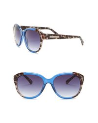 Vince Camuto Multicolor Square Glam 65mm Sunglasses
