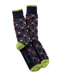 Robert Graham | Blue Pasquino Crew Socks for Men | Lyst