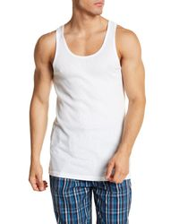 Tommy Hilfiger - White Ribbed Cotton Tank - Pack Of 3 for Men - Lyst