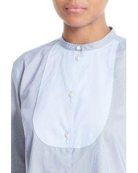 Helmut Lang - Blue Ottoman Tuxedo Shirt - Lyst