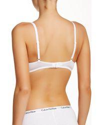Calvin Klein - White T-shirt Bra - Lyst