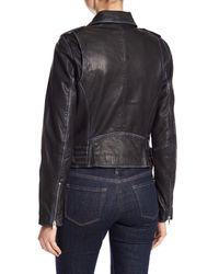 Andrew Marc - Black Whitney Leather Moto Jacket - Lyst