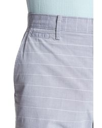 "Original Penguin - Blue 9"" Even Horizontal Stripe Short for Men - Lyst"