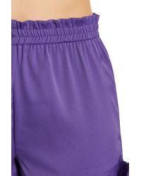 Romeo and Juliet Couture - Purple Tie Accen Ruffle Waist Shorts - Lyst