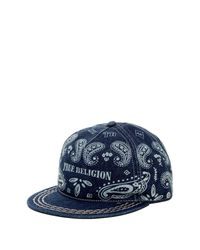True Religion | Blue Bandana Baseball Cap for Men | Lyst