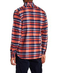 Psycho Bunny - Multicolor Plaid Flannel Long Sleeve Shirt for Men - Lyst