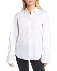 Trouvé - White Trouv? Tie Sleeve Poplin Shirt - Lyst