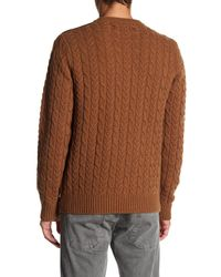Barque | Brown Cable Knit Sweater for Men | Lyst