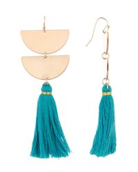 Panacea - Multicolor Tassel Earrings - Lyst
