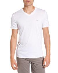 Lacoste - White Pima Cotton T-shirt for Men - Lyst