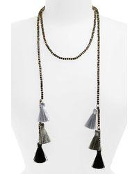 Panacea - Multicolor Tassel Wrap Necklace - Lyst