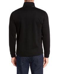 BOSS - Black C-piceno Quarter Zip Fleece Pullover for Men - Lyst