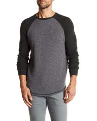 Autumn Cashmere - Gray Cashmere Baseball Raglan Tee for Men - Lyst