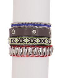 Rebecca Minkoff - Multicolor Mixed Media Wrap Bracelet - Lyst