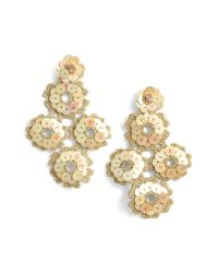 Kate Spade - Metallic Posy Grove Sequin Statement Earrings - Lyst