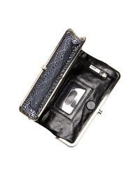 Hobo - Black Lauren Laser Cut Leather Wallet - Lyst