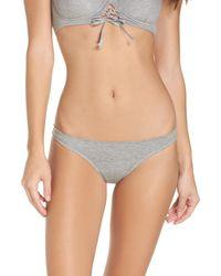 Kendall + Kylie - Gray Lace-up Back Bikini - Lyst