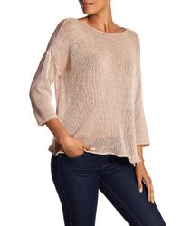 Eileen Fisher - Multicolor Bateau Neck Sweater - Lyst